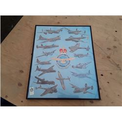 """""""Major WWII Bombers of the Air forces"""" Framed Picture"""
