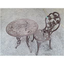 2 Pce Metal Table & Chair