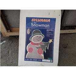 """Sylnania Icy Snowman Christmas Décor Apx 46""""x30"""""""