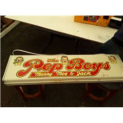 Pep Boys lighted sign