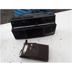Phillips Boombox and Sears Tape Recorder