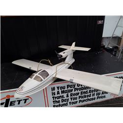 """White RC Plane With Fuel Powered Motor - 75"""" Wingspan"""