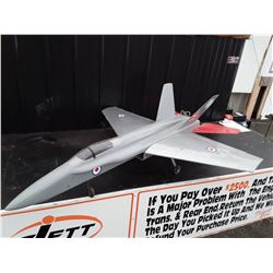 "Grey Jet Style RC Plane With Canada Badges No Motor - 54"" Wingspan"