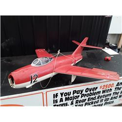 """Red Jet Style RC Plane - Red Stars - No Motor - 52"""" Wingspan"""