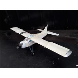 "White RC Plane With Electric Motor (Fake Windows)- 75"" Wingspan"