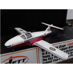 """White, Red and Blue RC Plane (Snowbird) With Fuel Powered Motor - 62"""" Wingspan"""