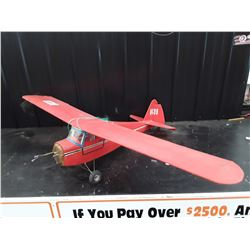 "Red RC Plane (Has Missing Nose) No Motor - 68"" Wingspan"