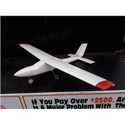 """White and Red RC Plane (Red Wing Tips) No Motor - 60"""" Wingspan"""