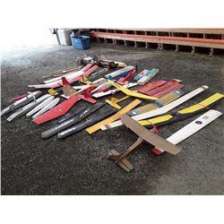 Large Lot of RC Plane Parts, Pieces, Motors, and Internal Parts