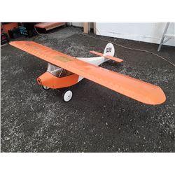 """Large Orange RC Plane - Wood - No motor - 90"""" Wingspan"""