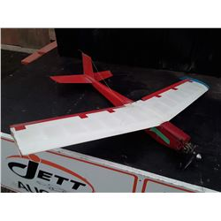 "Red and White RC Plane With Fuel Powered Motor - 46"" Wingspan"