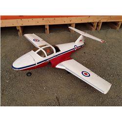 "White Red and Blue Snowbird Style RC Plane - Fibreglass - 66 "" Wingspan - No Motor"