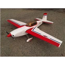 """White Red and Blue RC Plane With Electric Motor - 69"""" Wingspan"""