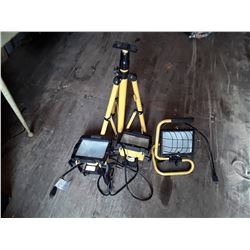Electrimart Double Work Light with Tripod and Single Work Light