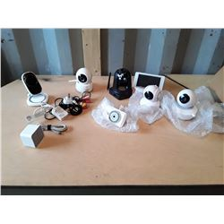 Lot of New and Used Wireless Security Cameras And Accessories