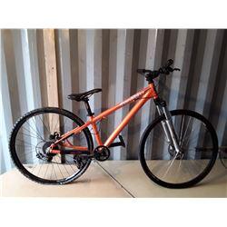 KHS Supra-Lite Custom Alloy Frame Mountain Bike With Bomber Front Suspension - Orange