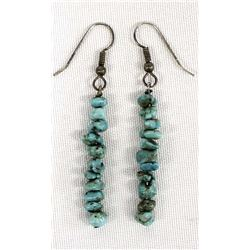 Native American Navajo Turquoise Nugget Earrings