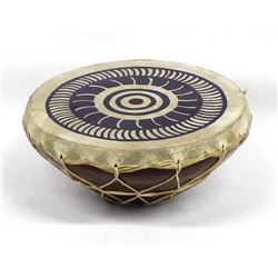 Ethnic Hide and Pottery Drum
