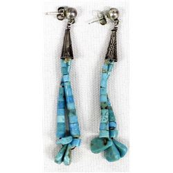 Navajo Sterling Turquoise Jocla Earrings