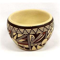 Hopi Polychrome Pottery Bowl, Jofern Silas Puffer