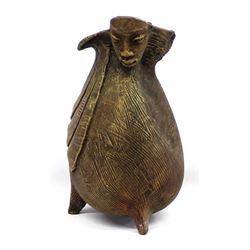 Haitian Figural Pottery Vase by E. Joseph