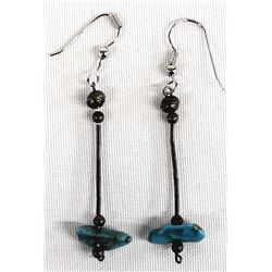 Navajo Old Pawn Sterling Turqoise Earrings
