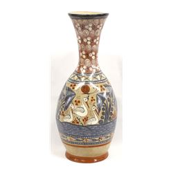 Beautiful Tonala Pottery Vase by P. Mateos