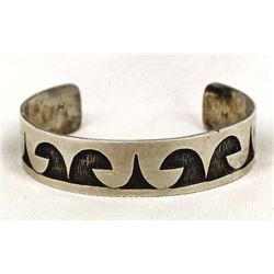 Early Hopi Overlay Cuff Bracelet