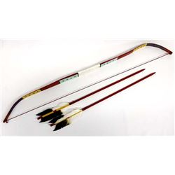 Native American Hopi Child's Bow and Arrows