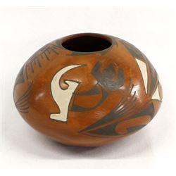 Mata Ortiz Polychrome Seed Jar by Lupe Sandoval