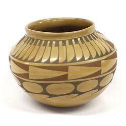 Vintage Mata Ortiz Polychrome Pottery Bowl by Sanbe
