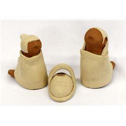 3 Pieces of Native American Jemez Pottery, Concha