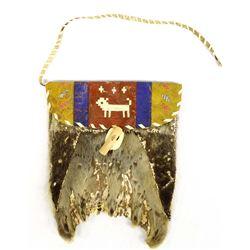 Antique Canadian Inuit Sealskin Bag