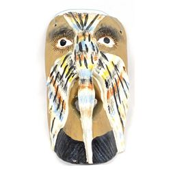 Mexican Hand Carved Wood Bird Mask