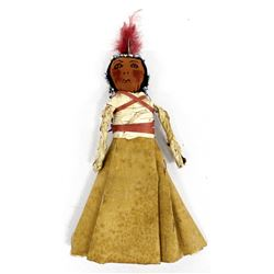 Rare Antique Native American Birch Bark Doll