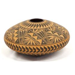 Acoma Carved Pottery Pillow Pot by