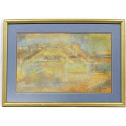 Framed Original Watercolor Painting, J. Waterman