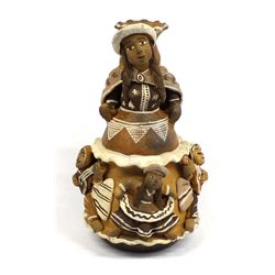 South American Pottery Candle Holder