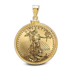 2019 1/2 oz Gold Eagle Pendant (Diamond-ScrewTop Bezel)