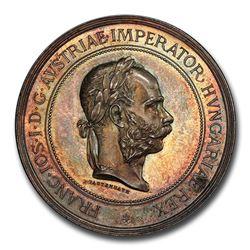 Austria Silver Medal for Horsemanship Franz Joseph I SP-64 PCGS