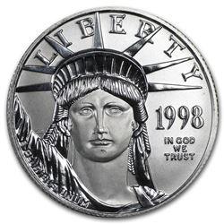 1998 1/2 oz Platinum American Eagle BU