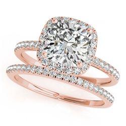 1.25 ctw VS/SI Diamond 2pc Wedding Set 14K White Gold