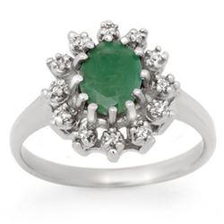 0.50 ctw VS/SI Oval Diamond Ring 10K White Gold