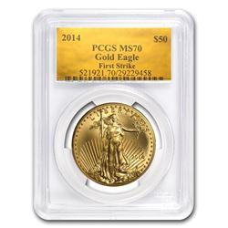 2014 1 oz Gold American Eagle MS-70 PCGS (FS\, Gold Foil)