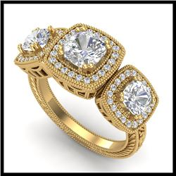 6 ctw Black VS/SI Diamond Ring 14K Rose Gold