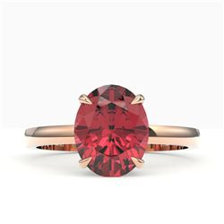 2.75 ctw Amethyst & VS/SI Diamond Halo Ring 18K Yellow Gold