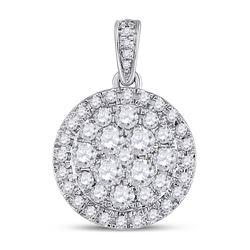 14kt White Gold Round Diamond Halo Bridal Wedding Engagement Ring Band Set 1-1/3 Cttw