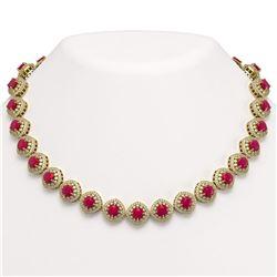 8.40 ctw Ruby Bracelet 10K White Gold