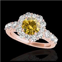 2.50 ctw Intense Yellow Diamond Necklace 10K White Gold