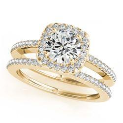 1.15 ctw VS/SI Diamond Solitaire Art Deco Stud Earrings 18K Rose Gold